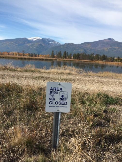 Sign on the walking loop