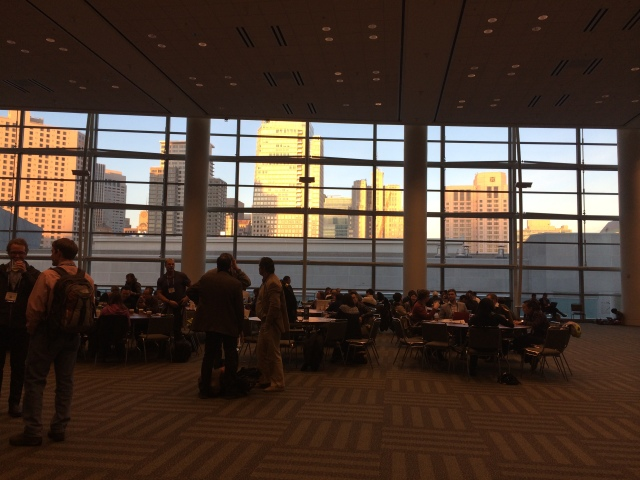 Inside of the Moscone Center - West Building during sunset
