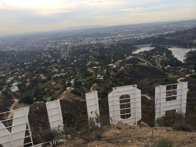 Hike up to the Hollywood sign - notice the Los Angeles aquifer on the right side over the H!