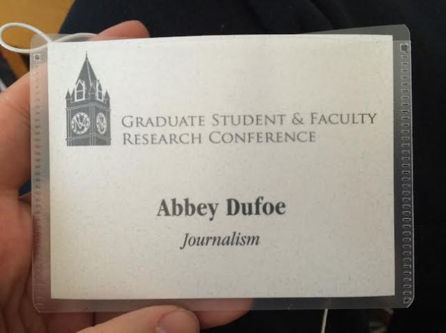 My badge for the conference