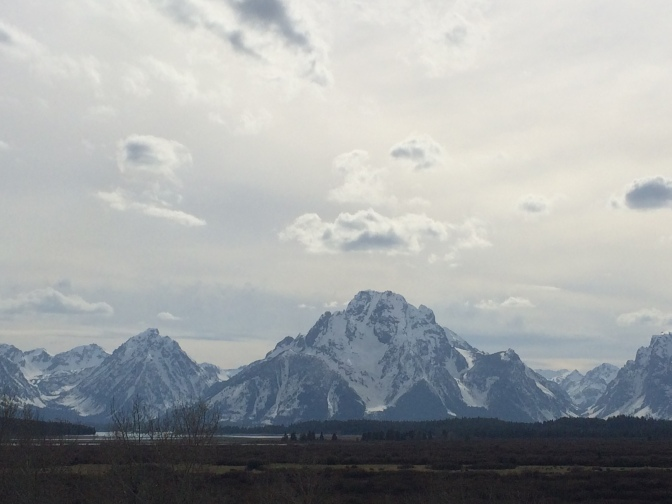 Mount Moran - second highest peak in the mountain range