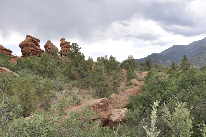 """Siamese Twins"" - the two similar rock formations on the right."