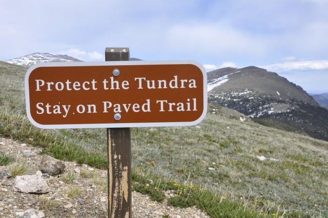 """Protect the Tundra"" sign"
