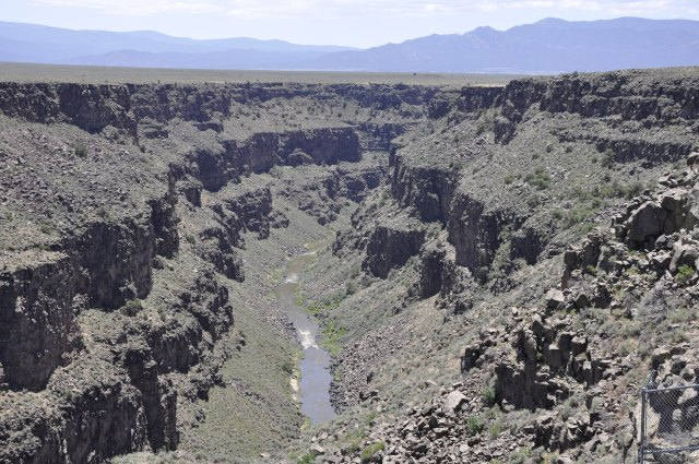View of the Rio Grande Gorge from the bridge!