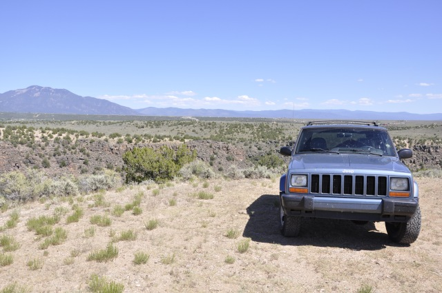 My Jeep on BLM lands near the gorge.