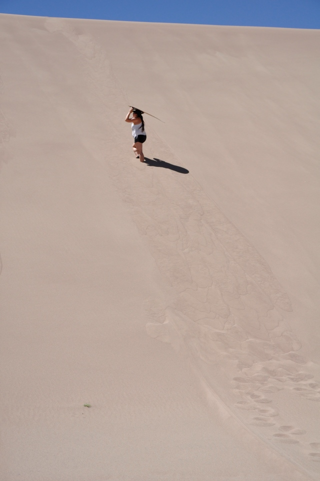 Me heading up the dune!