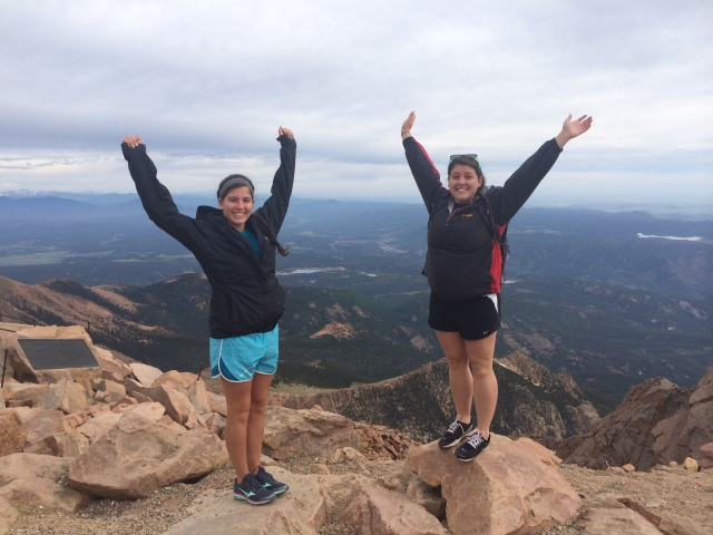 At the top of Pikes Peak!