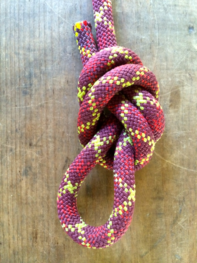 Overhand on a bight knot - one featured in my article and tied by my brother!