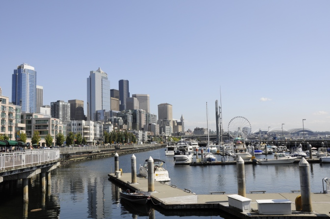 Seattle from the docks - a photo from the wedding weekend.