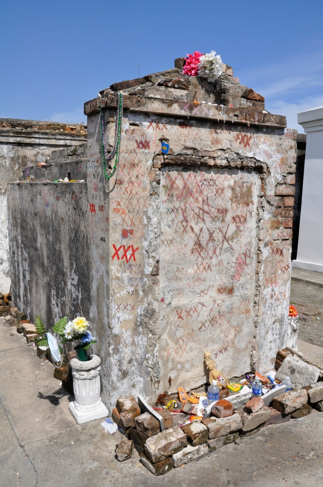 The Voodoo Queen's grave in St. Louis Cemetery #1