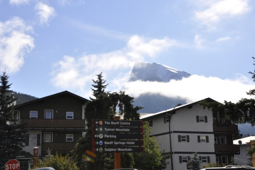 Mount Rundle from the streets of Banff