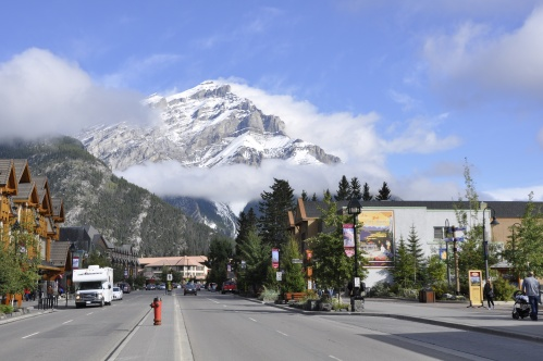 Cascade Mountain from the streets of Banff