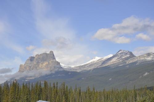 Castle Mountain near the border of Alberta-British Columbia