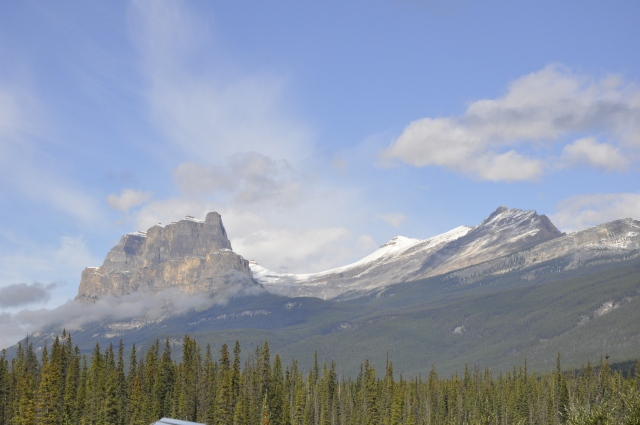 Castle Mountain near the border of Alberta-British Columbia