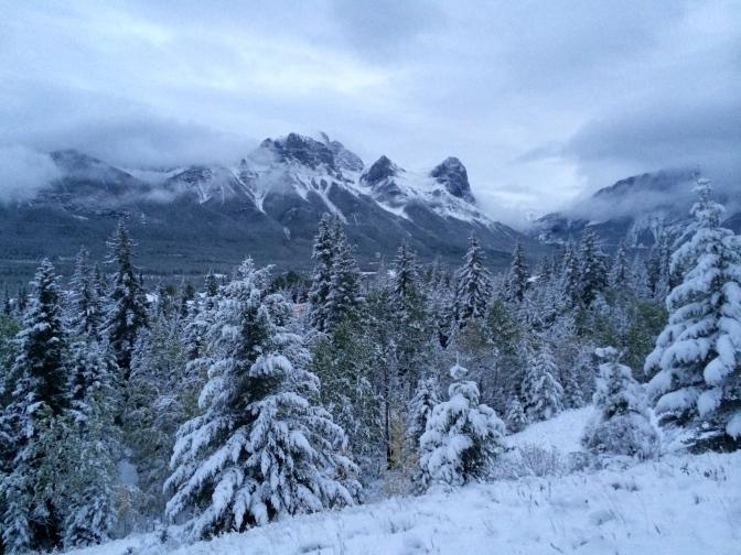 View of Ha Ling peak from Jon and Erin's backyard!