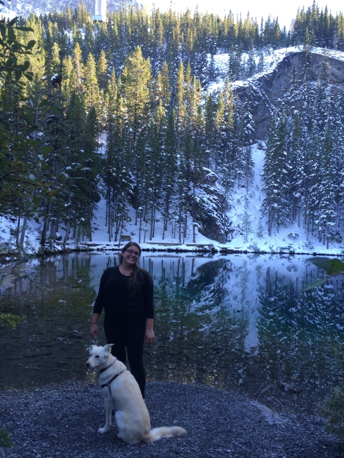 Me and Siku at the top of Grassi Lakes!