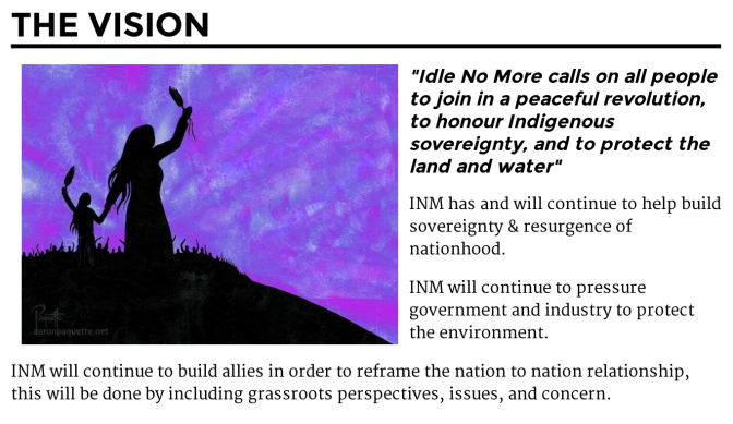 Idle No More vision from their website