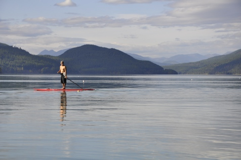 Stand-up-paddleboarder on Whitefish Lake.