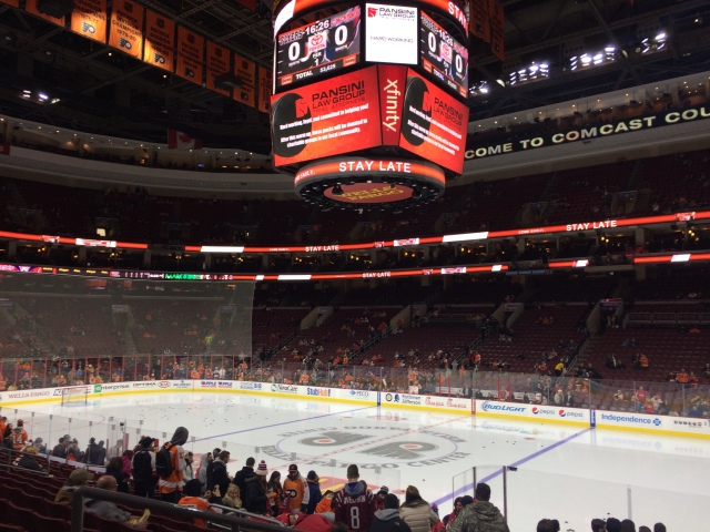 Philadelphia Flyers NHL game at Wells Fargo Center in Philadelphia