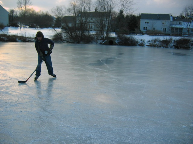 Pond hockey in Pennsylvania